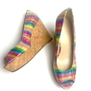 Nine West Rainbow Wedges - Cork